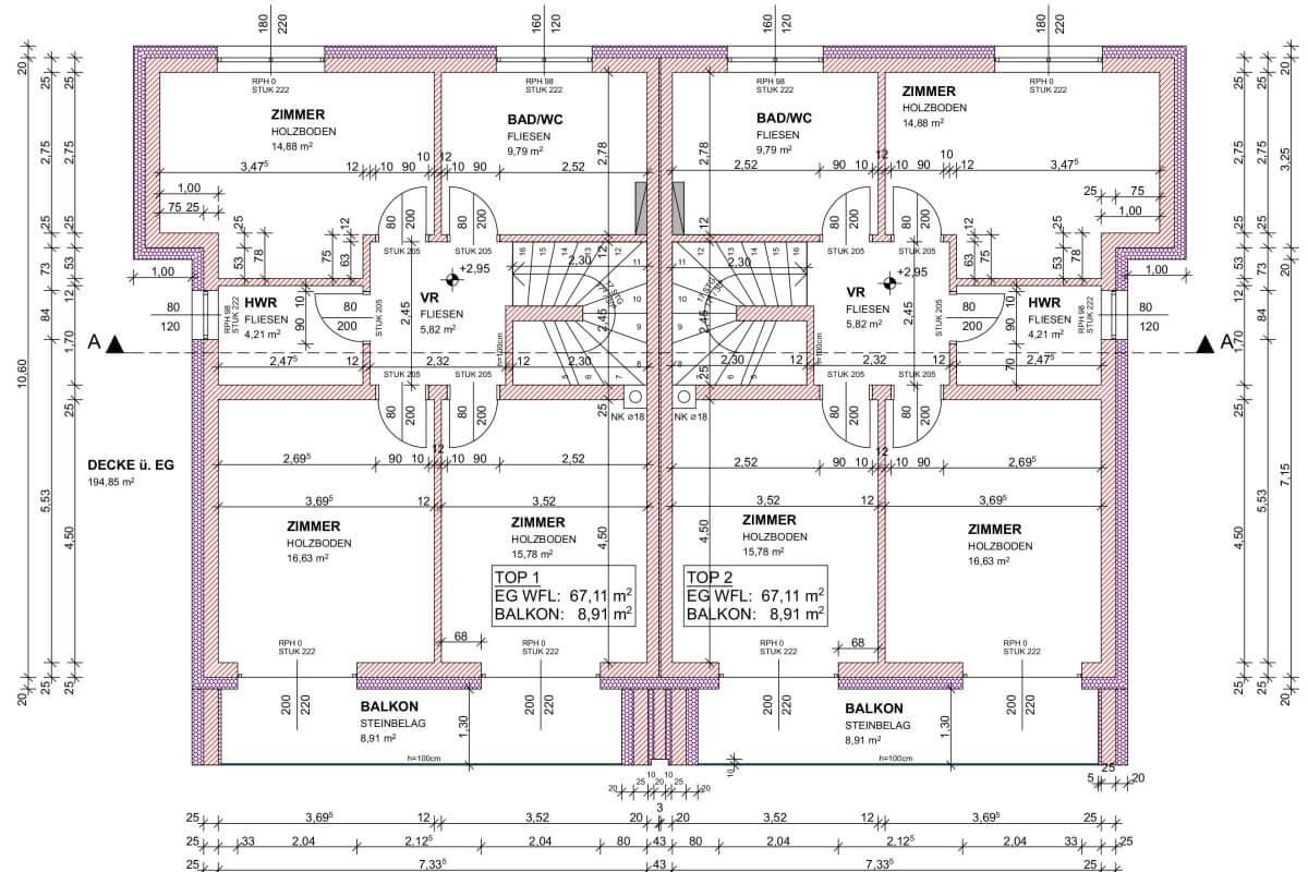 Kubus GmbH Grundrissplan zeichnen Strasshof Pixendorf